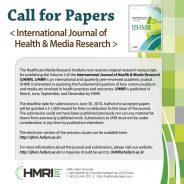 CfP: International Journal of Health & Media Research